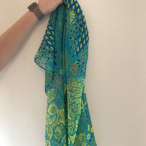 Accessories - green scarf peacock sheer fashion scarf New